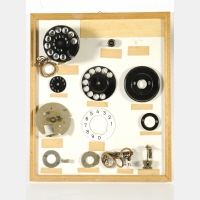 Tray of Siemens rotary dial